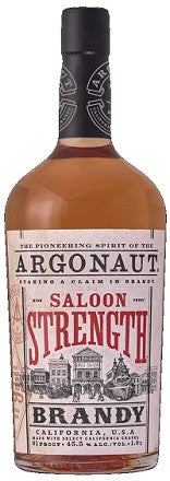 "Argonaut ""Saloon Strength"" California Brandy. 91 Proof, 1L"