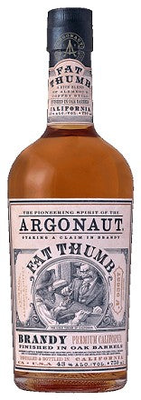 "Argonaut ""Fat Thumb"" California Brandy. 86 Proof, 750 ML"