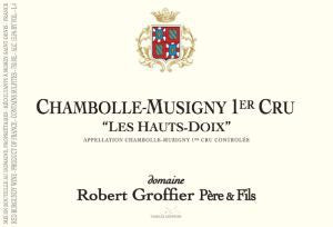 2015 Domaine Robert Groffier Pere & Fils Chambolle Musigny Hauts Doix
