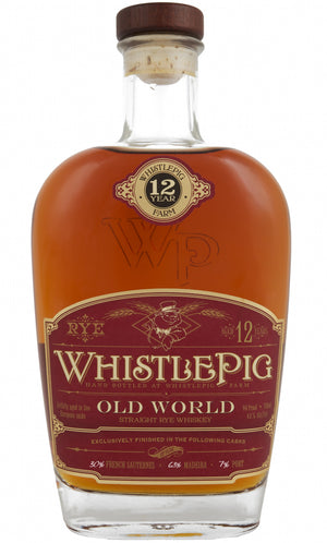 Whistlepig Farm Straight Rye Whiskey 12YR Old World Rye 750 ML