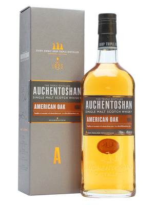 NV Auchentoshan Single Malt Scotch Whisky American Oak, 40% ABV 750 ML
