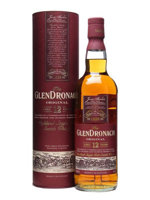 NV Glendronach Original 12 Year Old Single Malt Scotch Whisky, Speyside Highlands 43% ABV 750 ML