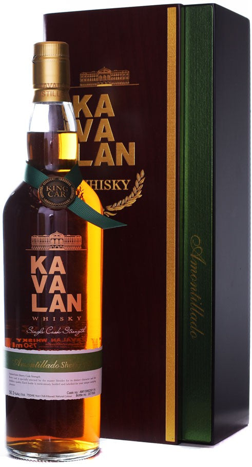 NV Kavalan Amontillado Sherry Cask, Single Cask Strength Whisky, Taiwan, 55.6% ABV, 750 ml
