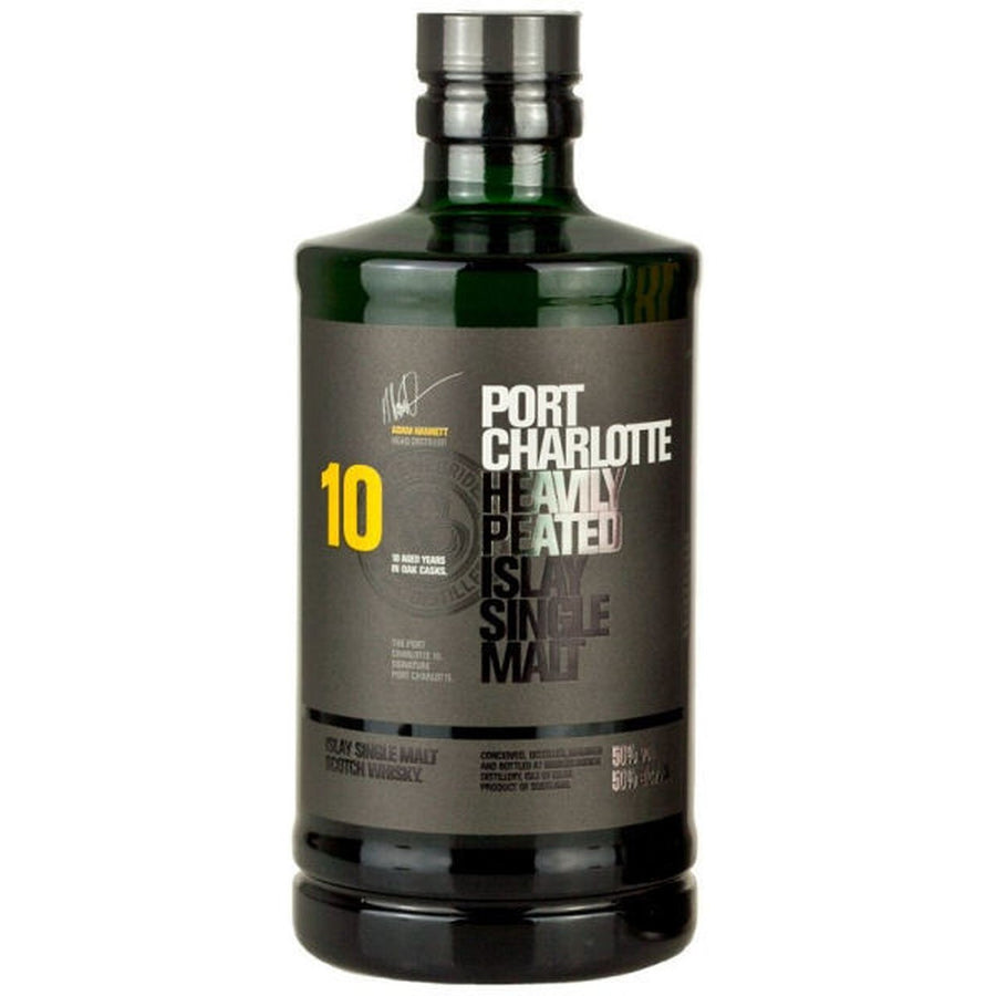 Bruichladdich Port Charlotte Heavily Peated Islay Single Malt Scotch Whisky Aged 10 Years 750 ML