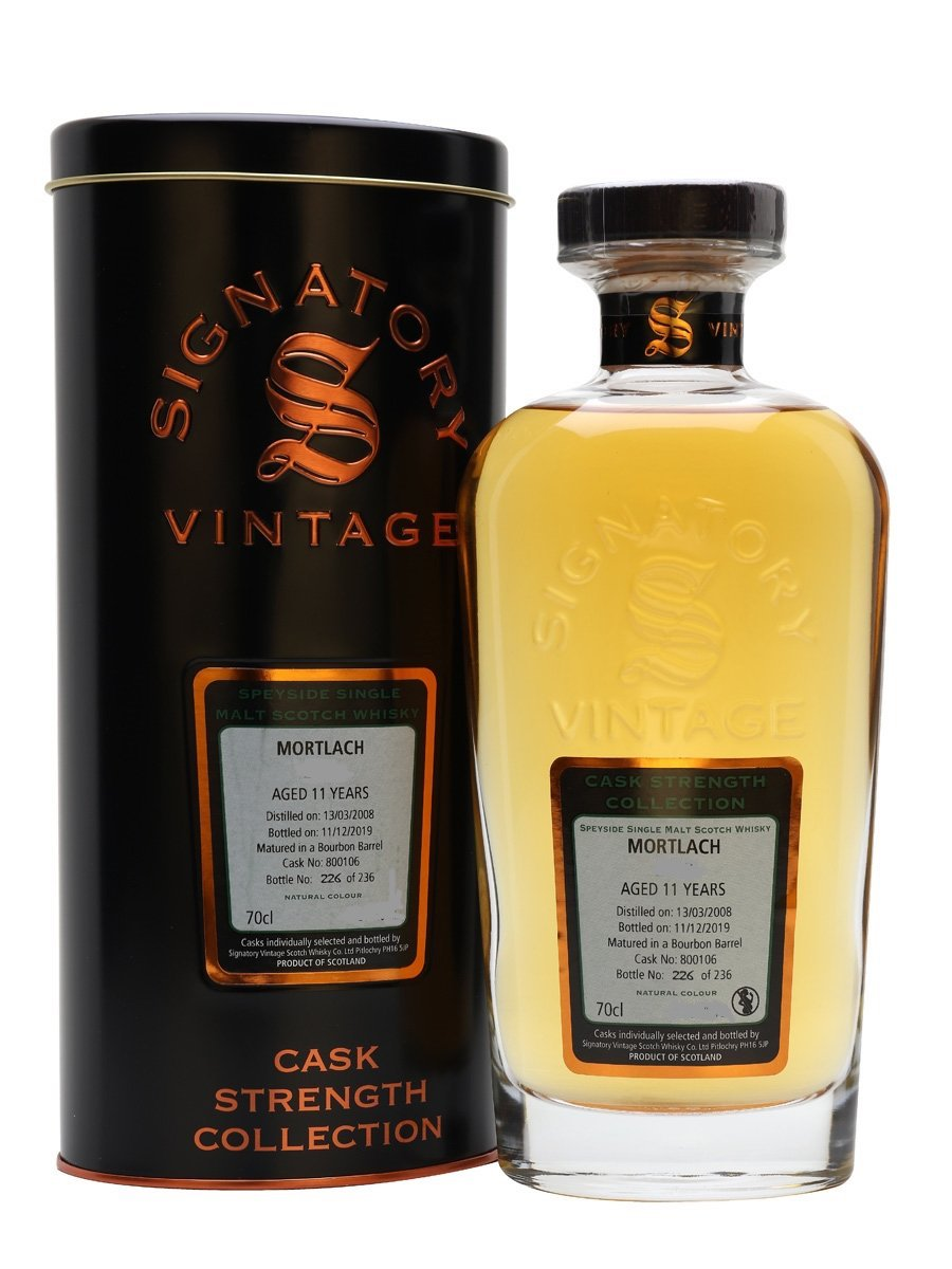 2009 Signatory Mortlach Speyside Single Malt Scotch Whisky Aged 11 Years, 108.6 Proof 750ML