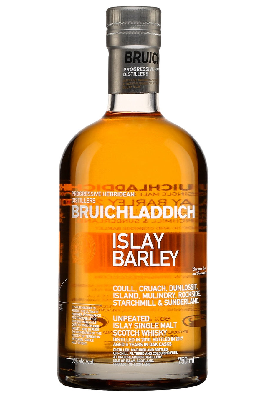 2010 Bruichladdich Islay Single Malt Scotch Whisky Barley Aged Six Years 750 ML