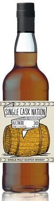 Single Cask Nation Aultmore Single Malt Scotch Whisky 30 Years Old, 750ml