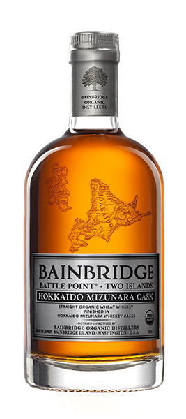 Bainbridge Battle Point Two Islands Straight Organic Wheat Whiskey Hokkaido Mizunara Cask 750ML