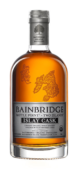 Bainbridge Battle Point Two Islands Straight Organic Wheat Whiskey Islay Cask 750ML