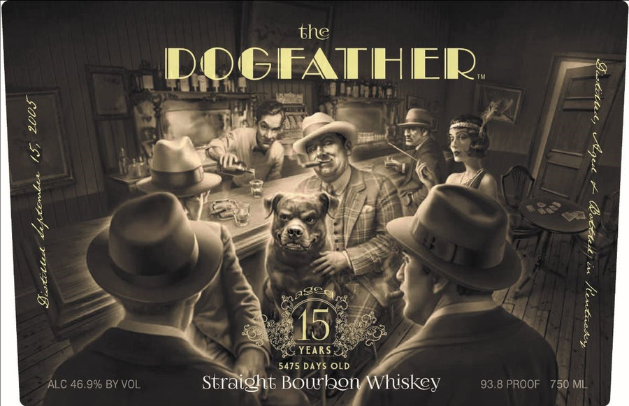 Lone Whisker The Dogfather Straight Bourbon Whiskey 15 Years (5475 Days) Old 750ml
