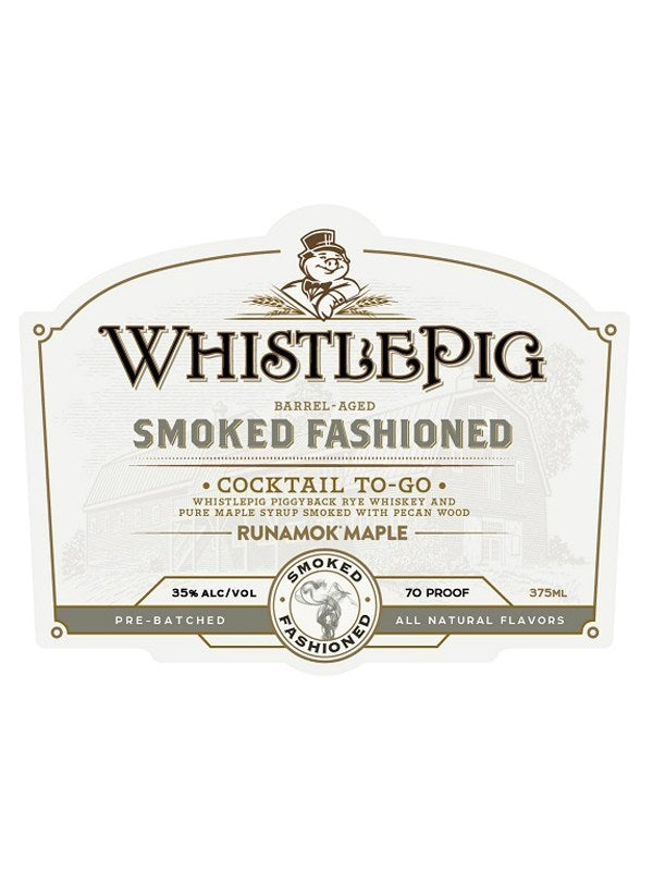 Whistlepig Farm Cocktail To-Go Smoked Fashioned 375ML