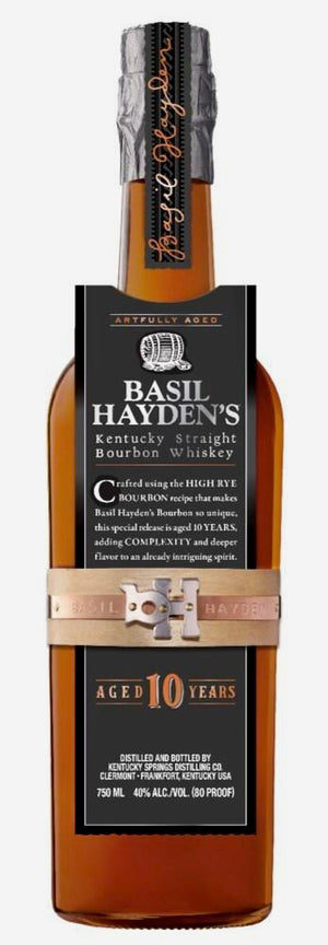 Basil Hayden's Kentucky Straight Bourbon Whiskey 10 Year 750ML