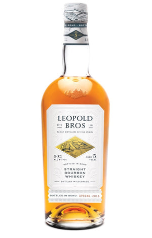 Leopold Brothers Straight Bourbon Whiskey Aged 5 Years Bottled in Bond 750ml