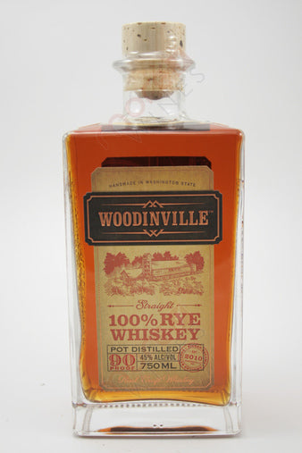 Woodinville Straight 100% Rye Whiskey 750 ML