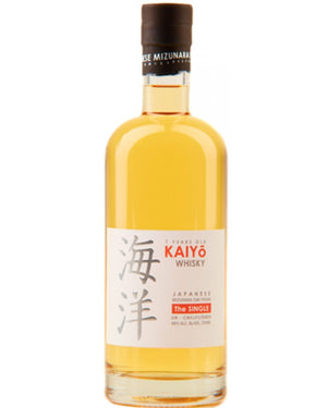 "Kaiyo Whisky, Japanese Mizunara Oak. ""The Single"" 7 Year 48% ABV 750 ML"