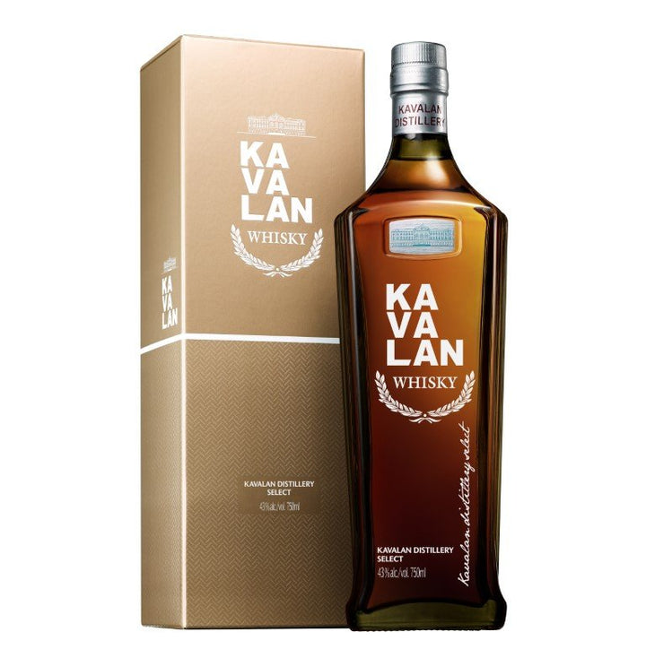 NV Kavalan Distillery Select Single Malt Whiskey 40% ABV 750 ML