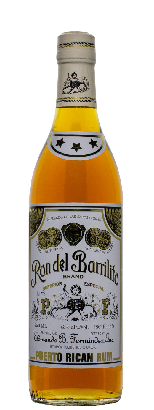 Ron Del Barrilito 3 Star Puerto Rican Rum 750 ML