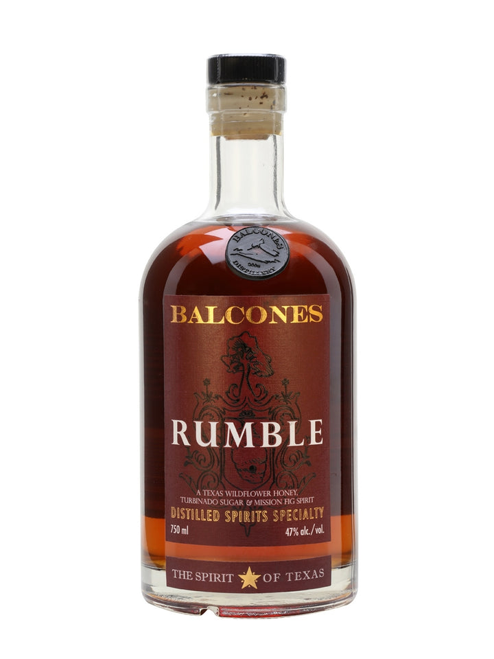 Balcones Rumble Texas Wildflower Honey, Turbinado Sugar & Mission Fig Spirit 750 ML