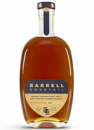 Barrell Dovetail Whiskey Finished In Rum, Port and Dunn Vineyards Cabernet Barrels 750 ML