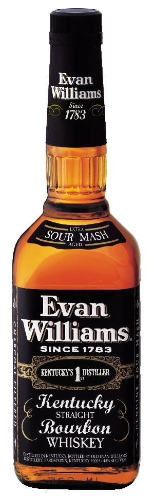 Evan Williams Black Label Kentucky Straight Bourbon. 86 Proof, 750 ML