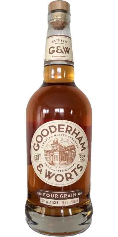 Gooderham and Worts Four Grain Canadian Whiskey 88.8 Proof 750 ML