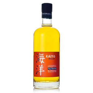 "Kaiyo Whisky, Japanese Mizunara Oak. ""The Peated"" 46% ABV 750 ML"
