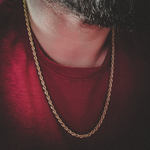 Gold Rope Necklace (4mm) - Hip Hop Jewelry | PrimoBling
