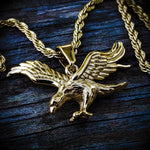 Stainless Steel Eagle Necklace - Hip Hop Jewelry | PrimoBling