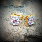 1.5 ct vvs Lab Simulated Halo Earrings - Hip Hop Jewelry | PrimoBling