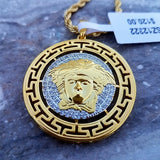 Gold Medusa Necklace - Hip Hop Jewelry | PrimoBling