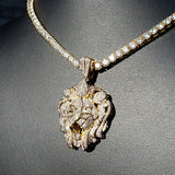 Gold Diamond Lion Necklace - Hip Hop Jewelry | PrimoBling