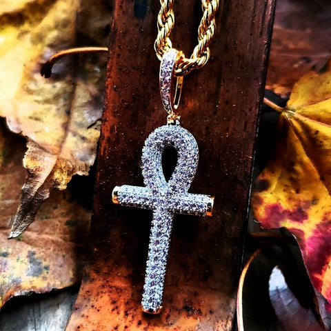 Iced Lab Diamond Ankh Necklace - Hip Hop Jewelry | PrimoBling