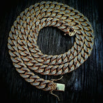 "18"" Iced Out Lab Diamond (6mm) Cuban Link Necklace - Hip Hop Jewelry 