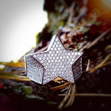 Iced Out Star Ring - Hip Hop Jewelry | PrimoBling