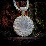 14k Gold Plated Iced Out Medallion Necklace - Hip Hop Jewelry | PrimoBling