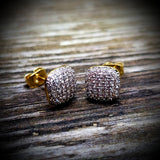 Cushion Diamond Earrings - Hip Hop Jewelry | PrimoBling