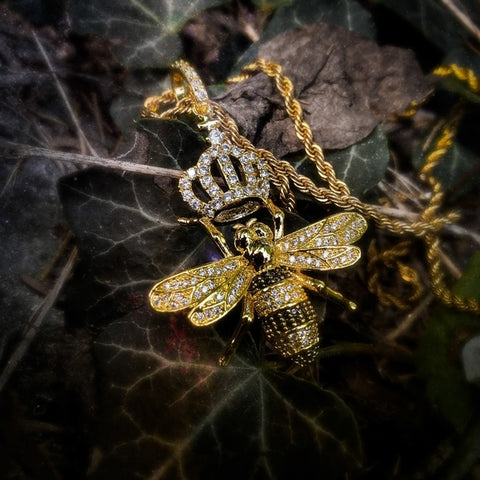 Queen Bee Necklace - Hip Hop Jewelry | PrimoBling