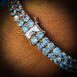 Rose Gold 2 Row Tennis Bracelet - Hip Hop Jewelry | PrimoBling