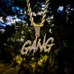 GANG Drip Iced Out Hip Hop Necklace - Hip Hop Jewelry | PrimoBling