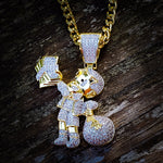 Micro Money Bag Boy Necklace - Hip Hop Jewelry | PrimoBling