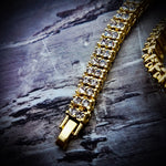 Iced Out 2 Row Hip Hop Tennis Necklace - Hip Hop Jewelry | PrimoBling