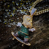 Bart Simpson Necklace - Hip Hop Jewelry | PrimoBling