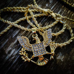 "Mini 24"" American Eagle Necklace - Hip Hop Jewelry 