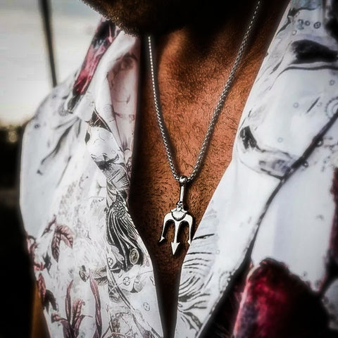 Stainless Steel Pitchfork Necklace - Hip Hop Jewelry | PrimoBling
