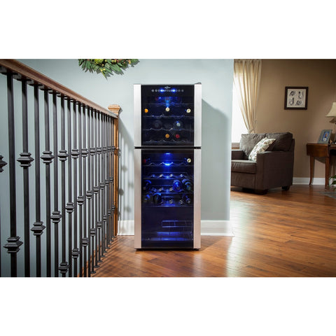 Koolatron 45 Bottle Dual Zone wine cooler WC45