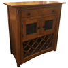 Image of Crafters & Weavers Amish Made Quarter Sawn Wine Cabinet in White Oak CW1310