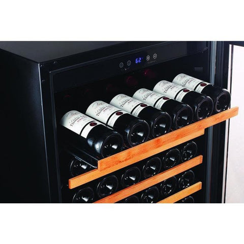 Smith & Hanks 166 Bottle Single Zone Smoked Glass Door Wine Cooler RE100014