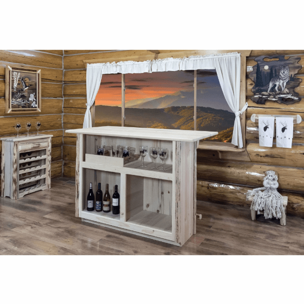 Montana Woodworks Montana Collection Bar with Foot Rail MWBWRV