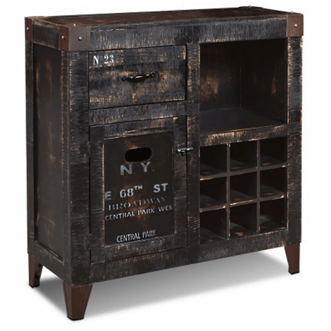 Crafters & Weavers New York City Graffiti Wine Cabinet CW8725-150