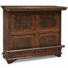 Image of Crafters & Weavers Addison Rustic Bar Table with Wine Cabinet CW8600-100
